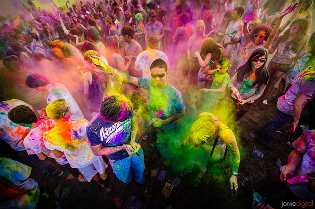 India's Holi Festival of Popularly called the Festival of Colors, happening every full moon day in the month of Phalgun which is the month of March as per the Gregorian calendar.